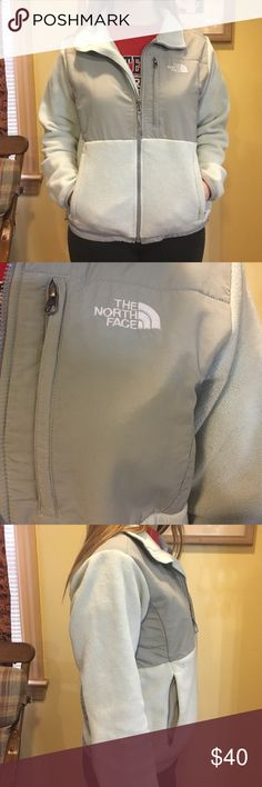 Sea foam green North Face Denali Fleece This is a slightly used north face fleece. In really good shape, and material is not worn. Very comfy and warm. North Face Jackets & Coats
