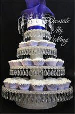 Rhinestone Cupcake Stand with Teardrops