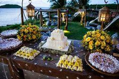 50 Mesas de Bolo de Casamento Inspiradoras - Fotos