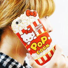Authentic Hello Kitty Popcorn Case iPhone 6 Case iPhone 6 Plus Case 5 Types Case #HelloKitty