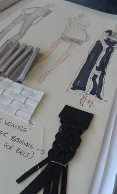 "Caroline Heavey is a Fashion Design Graduate of Coláiste Íde. She has just finished her Fashion Design Level 6 in Scfe FashionDesign Collection Name: ""Traces left behind"" 'My collection was inspired by the traces we leave behind. Every touch leaves a mark. Our footprints or tyre tracks remind us someone has been in nature, raindrops are left behind on our windows, the sea leaves its mark on the sand...this is natures touch.'"