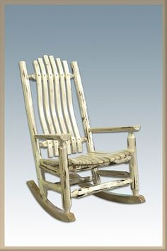 Beautifully crafted rocking chair Skip-peeled by hand Made in USA