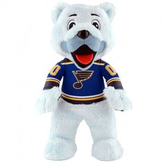 "St. Louis Blues® Louie The Bear 10"" Plush Mascot PRESELL"