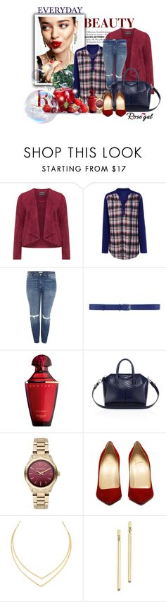 """""""Rosegal - Plaid Blouse"""" by ellaa-h ❤ liked on Polyvore featuring KAROLINA, Manon Baptiste, River Island, Jil Sander, Guerlain, Givenchy, Karl Lagerfeld, Lana and Bloomingdale's"""