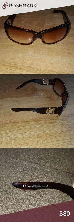 Christian Dior sunglasses authentic X5QID BROWN FRAMES Full Rim Havana Frame Day1 Dior Accessories Sunglasses