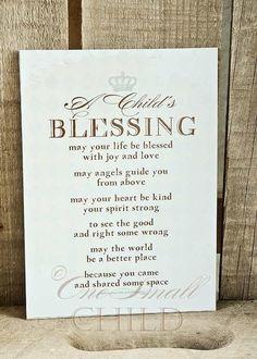 Child's Blessing Keepsake Print ~ Christening or Baptism Gift