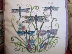 dragonflies counted cross-stitch