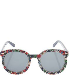 Karen Walker x Liberty Multicolour Liberty Print Super Duper Strength Sunglasses | Accessories | Liberty.co.uk