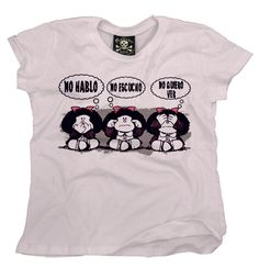 """Playera  Mafalda ""  Morra  disponible en www.kingmonster.com.mx"