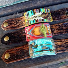 Just a couple of these left! What do you guys think of the vintage belt cuffs? Should I keep this style around? #serape