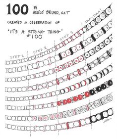 "Nice article on Zentangle ""beads"" - great border ideas: Tickled To Tangle: ""It's a String Thing"" #100 The Zentennial"