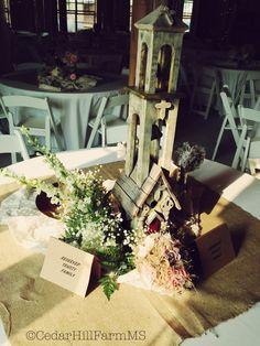 Country - Vintage Wedding Reception - Cedar Hill Farm - Hernando,MS - www.gocedarhillfarm.com