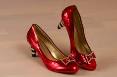 Kitten Heel Witches of Oz Sequin Pumps by princesspumps on Etsy. So cute! I need these