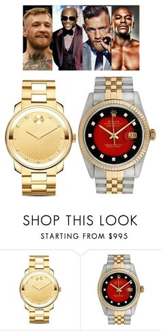 """May the best man win"" by exoduss ❤ liked on Polyvore featuring Movado, Rolex, men's fashion and menswear"