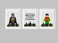 Batman and Robin, Being a brother, Superhero,Lego,Batman lego,Printable,Kids Print,Nursery,Super Hero Bedroom,Superhero Pop Art, Download door LovelyDesings op Etsy https://www.etsy.com/nl/listing/220303126/batman-and-robin-being-a-brother