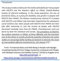 """From: (Free full text) """"Functional Status and Well-Being in People with #MyalgicEncephalomyelitis/#ChronicFatigueSyndrome Compared with People with Multiple Sclerosis & Healthy Controls"""" by @mecfsbiobank (March 2018) https://link.springer.com/article/10.1007%2Fs41669-018-0071-6 … #MEcfs #CFS"""