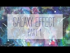 How to paint a galaxy - WATERCOLOR - part 1 - YouTube