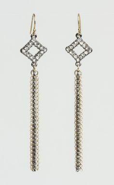 Crystal Multi Chain Earrings