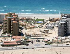 New construction along the beach