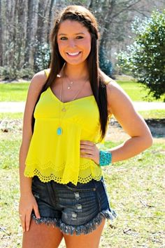 It's Your Love Tank - Yellow $24.99 #SouthernFriedChics