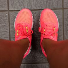 Hot pink Nike Free Run+ 3's yea. Most comfortable things I have ever purchased