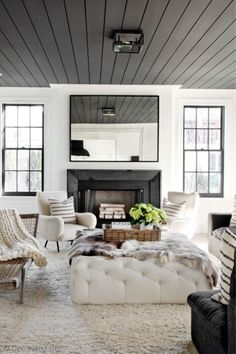 Diy ceiling ideas for living room 6 paint colors that make a splash on ceilings in home ceiling paint colors home decor living room decor diy ceiling ideas Ceiling Paint Colors, Room Paint Colors, Paint Colors For Living Room, Bedroom Colors, Bedroom Ideas, Modern Ceiling Paint, Ceiling Design, Bedroom Decor, Colored Ceiling