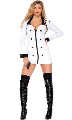 mobster minx sexy gangster costume - Halloween Mobster Costumes