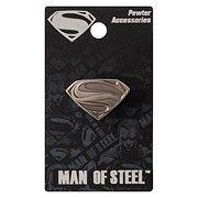Superman Man of Steel Logo Pewter Lapel Pin - http://lopso.com/interests/dc-comics/superman-man-of-steel-logo-pewter-lapel-pin/