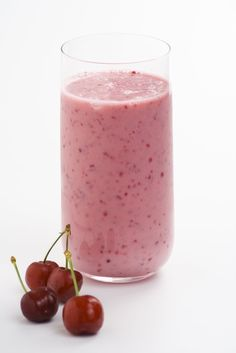 The cherry smoothie is full of fiber and protein, which makes a great breakfast but an even better postworkout treat.