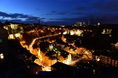 https://flic.kr/p/GfemMs | Luxembourg by night | Luxembourg city during the blue hour.