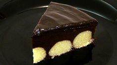 Čokoládová torta s tvarohovými  loptičkami – recept s videom