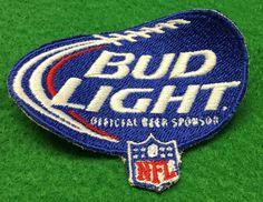 Bud Light NFL Embroidered Patch by CoryCranksOutHats on Etsy