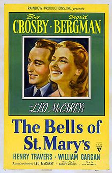 The Bells of St. Mary's is a 1945 American drama film produced and directed by Leo McCarey and starring Bing Crosby and Ingrid Bergman, The film won the Academy Award for Best Sound, Recording (Stephen Dunn), and was nominated for Best Actor in a Leading Role (Bing Crosby), Best Actress in a Leading Role (Ingrid Bergman),,,,