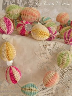 Honeycomb Easter eggs - Daisy Pink Cupcake