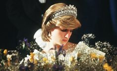 Princess Diana at a banquet in Canada in 1983.