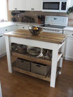 Kitchen Redo, New Kitchen, Kitchen Storage, Kitchen Ideas, Rustic Kitchen, Kitchen Small, Kitchen Layouts, Rustic Farmhouse, Farmhouse Style