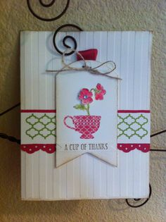 Stampin' Up! Cup of Thanks card