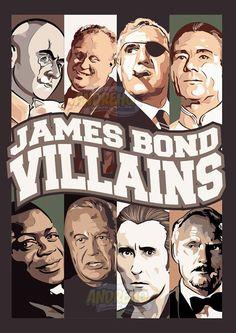 JAMES BOND VILLAINS POSTER by AndreHQ  #jamesbond #007 #england #villain #vector #vetor #poster #movieposter #movies #coreldraw #fanart #characters #draw #desenho #design #illustration #ilustração #actionmovie