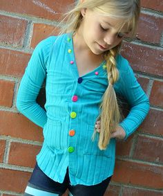 Look at this Turquoise Cardigan - Toddler & Girls on #zulily today!
