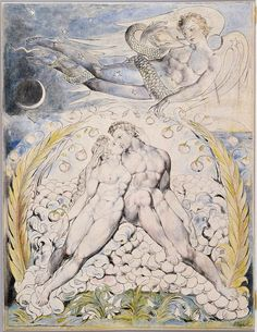 'Satan Watching the Endearments of Adam and Eve' William Blake's Mesmerizing Illustrations for John Milton's Paradise Lost – Brain Pickings William Blake Art, John Milton Paradise Lost, Arte Tribal, Heaven And Hell, Adam And Eve, Museum Of Fine Arts, Western Art, Religious Art, Watercolor Illustration