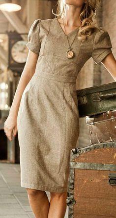 Vintage tweed pencil dress