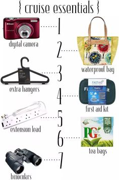 Avoid the pitfalls of packing for a cruise with our handy checklists of essentials...