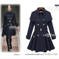 British Style Womens Wool Dress Winter Warm Jacket Coat Trench Parka Outwear
