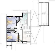 Second Floor Plan of Coastal   Country   Craftsman   House Plan 64981