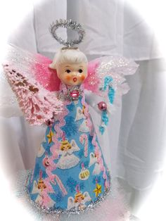 Vintage Inspired Holt Howard Angel Pink by MarshmallowCreations, $44.00