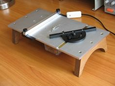 Micro Tablesaw. Can can clean-cut metal, plastics or wood stock easily and with minimal loss.