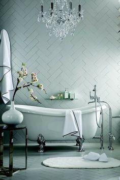 South Shore Decorating Blog: My Top 20 Dream Bathrooms ... Herringbone tile