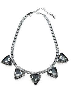 M&S Collection Triangle Diamanté Necklace