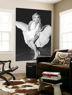 Marilyn Monroe The Legend by Sam Shaw Movie Mini Mural Huge Poster Print Wallpaper Mural at AllPosters.com