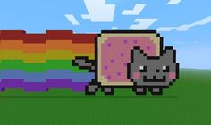 Minecraft Nyan Cat by RonsRogue on deviantART Easy Minecraft Houses, Minecraft Bedroom, Minecraft Pixel Art, Cool Minecraft, Creeper Minecraft, Minecraft Crafts, Minecraft Furniture, Minecraft Skins, Minecraft Buildings